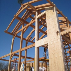 Tamlin Timber Frame Homes- timber frame overhang