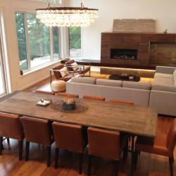 Gambier Island BC Project- Tamlin Homes - dining/great room