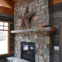 Saskatoon Custom Timber Frame Home- Tamlin Homes- fireplace
