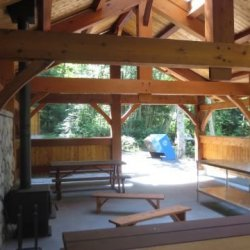 Tamlin Homes BC Parks - Cortes Timber Frame Structure