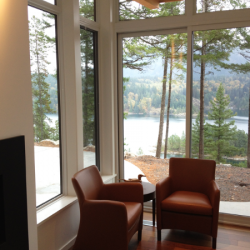 Gambier Island BC Project- Tamlin Homes- master bedroom sitting area