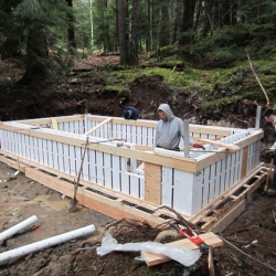 Gambier Island BC Project- Foundation ready to pour