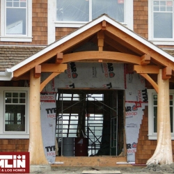 Tamlin Timber Frame Packages- Willows March Project - Entryway.