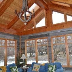 Saskatoon Custom Timber Frame Home- Tamlin Homes- sun room