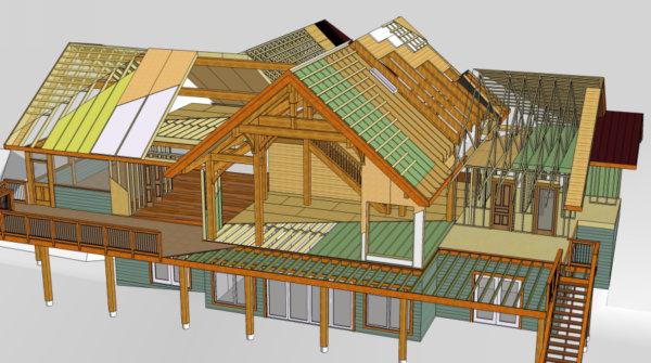Timber Frame Custom Design Tamlin International Homes Ltd