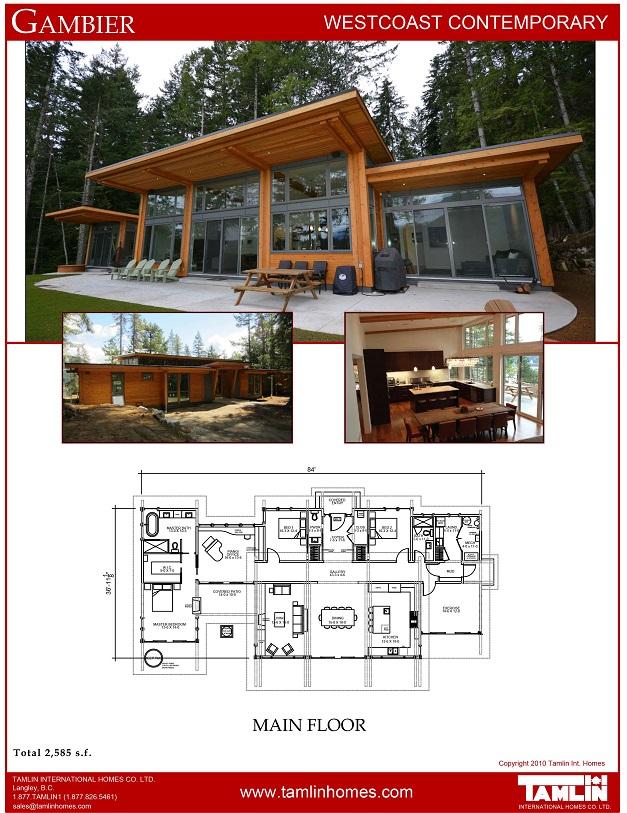 West Coast Style Custom Homes, Bc Box House Plans