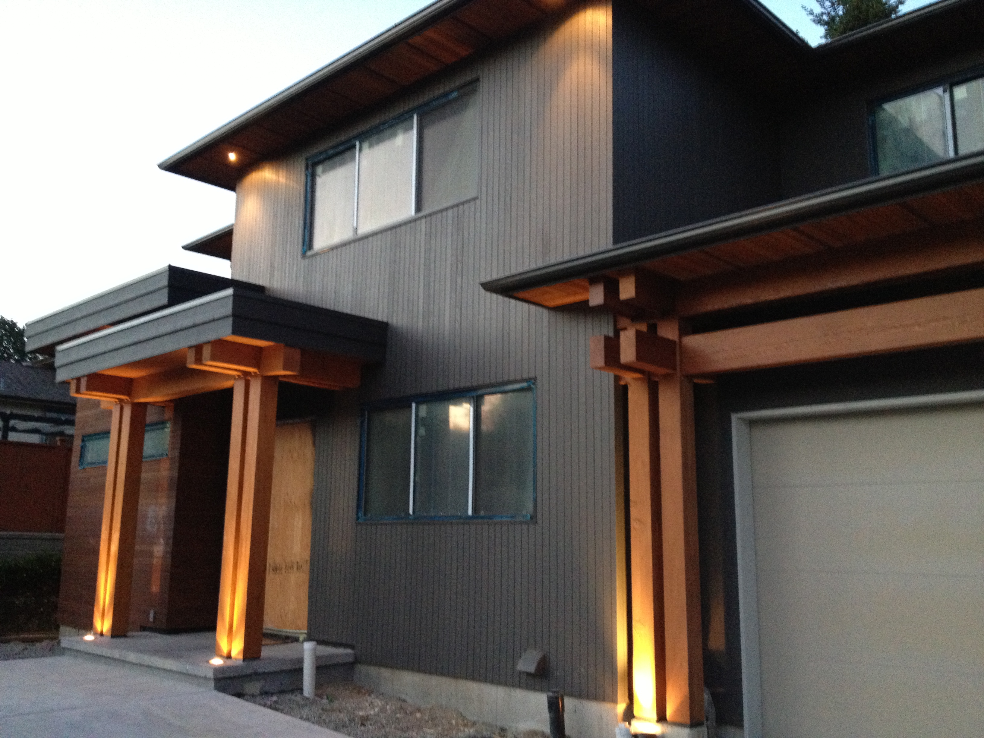 Burnaby custom timber frame project update tamlin homes for West coast home plans